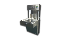 Halsey Taylor HTHBHVR8 - Vandal Resistant Wall Mounted HydroBoost Bottle Filler And Drinking Fountain Combination