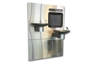 Halsey Taylor HTHBWF-OVLSER-I - Bi-Level OVL-II Architectural Drinking Fountain with Integral HydroBoost Bottle Filler