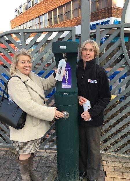 New outdoor drinking fountain in Bexleyheath