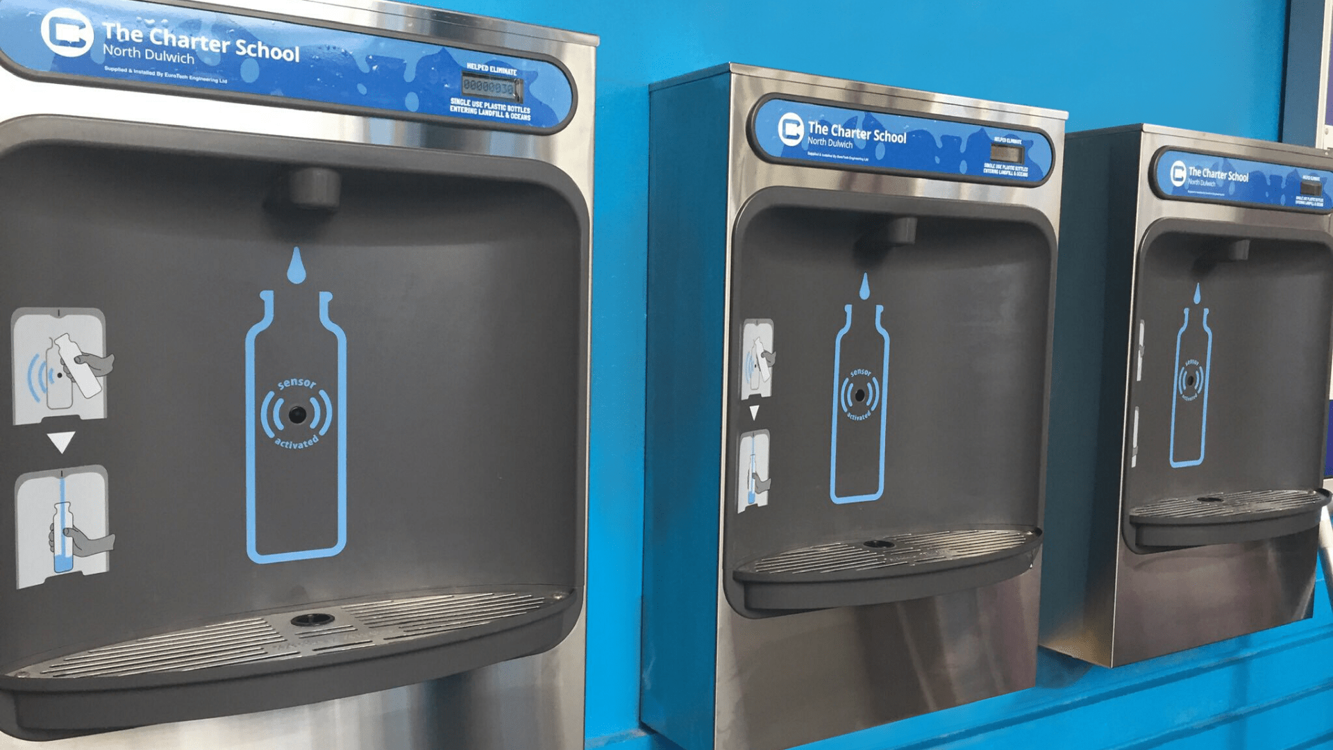 Newly Installed Bottle Filling Stations For Students