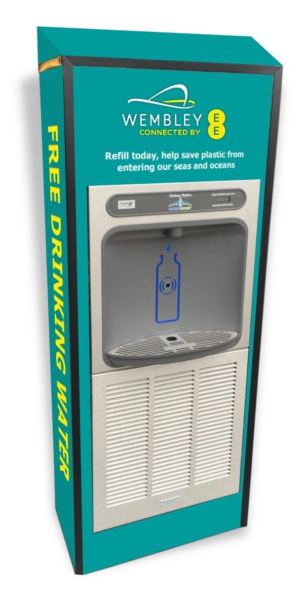 Green Wembley branded Eco-Dispenser cabinet.
