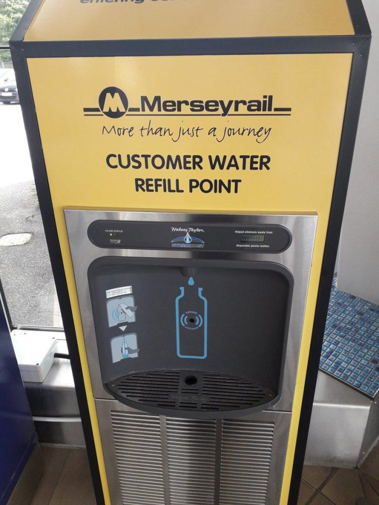 New branded Merseyrail bottle refill station