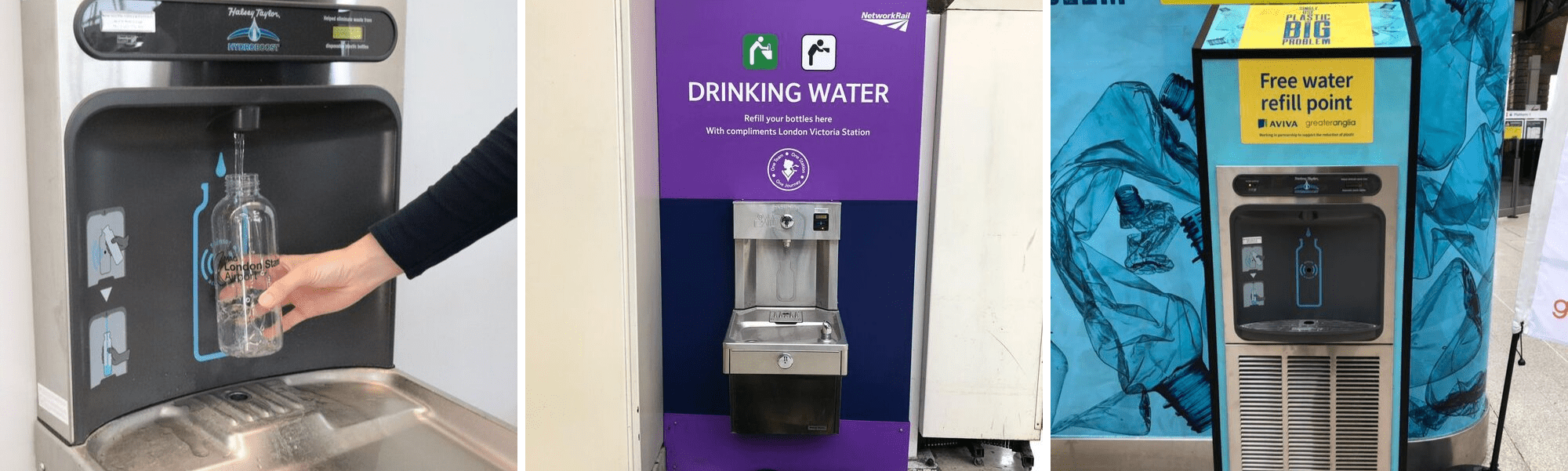 Wheelchair Accessible Bottle Refill Stations in Train Stations and Airports
