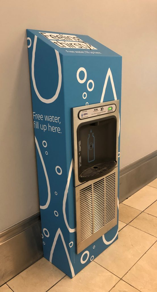 Halsey Taylor Eco-Dispenser Bottle Filler Branded for Intu Derby
