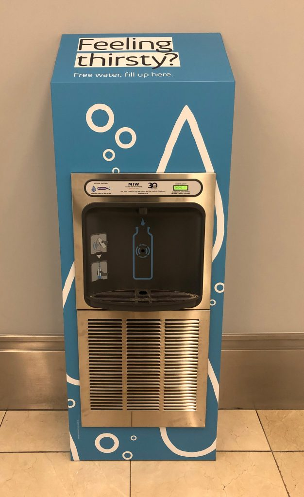 New bottle refill station at Intu Derby
