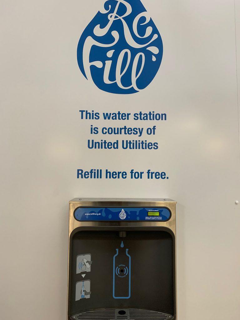 New Bottle Refill Station At Tameside Wellbeing Corner