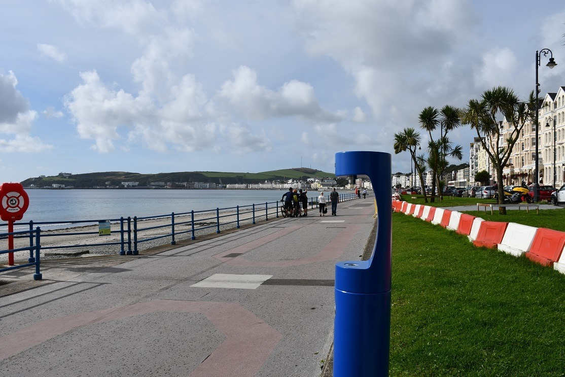 New drinking fountain installed on Loch Promenade by Douglas Borough Council.