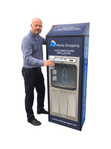 contactless water cooler MIW for shopping centres