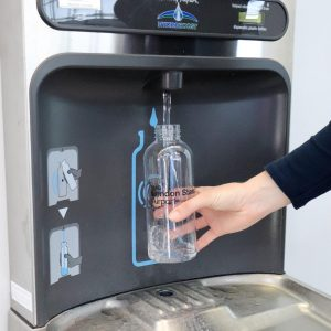 contactless water cooler MIW for airports