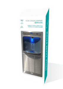 Image of a contactless water cooler