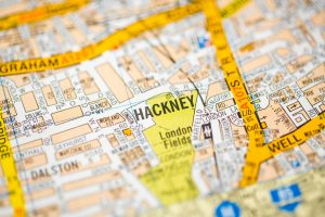Image of a map of Hackney